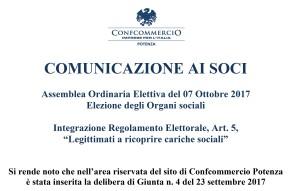 Testatina_comunicazione ai soci - Integrazione Regolamento Elettorale