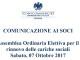 Convocazione dell'Assemblea ordinaria elettiva del 7 ottobre 2017