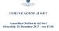 Convocazione Assemblea Ordinaria dei Soci – Mercoledì 20 Dicembre 2017 ore 15:30