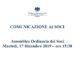 AVVISO CONVOCAZIONE ASSEMBLEA non elettiva del 17 Dicembre 2019