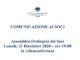 COMUNICAZIONE AI SOCI – Assemblea Ordinaria dei Soci